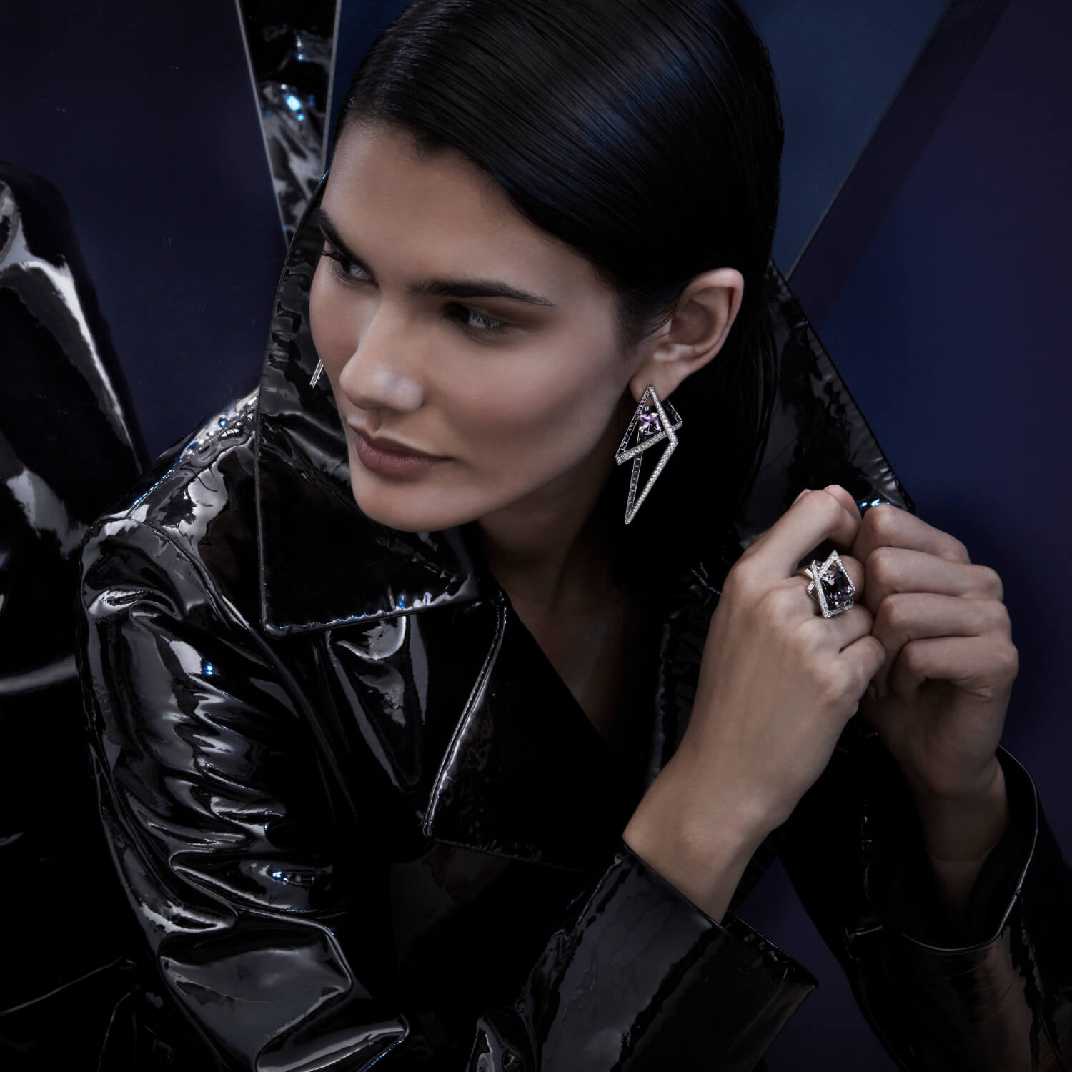 Stephen Webster Vertigo Collection - Lost Horizon Ring and Earrings